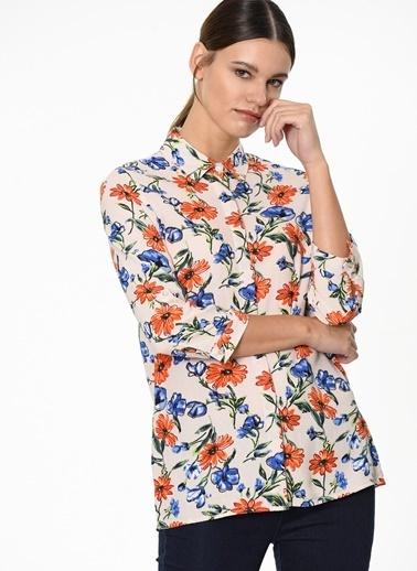 Fashion Friends Çiçekli Gömlek Bej